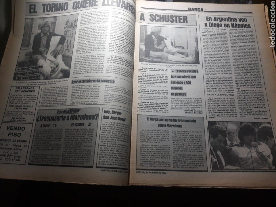 Coleccionismo deportivo: SPORT 29 MAYO 1984 . COSMOS 5 BARCELONA 3 - ULTIMÁTUM MARADONA -SCHUSTER , OFERTA DEL TORINO . - Foto 4 - 238807660