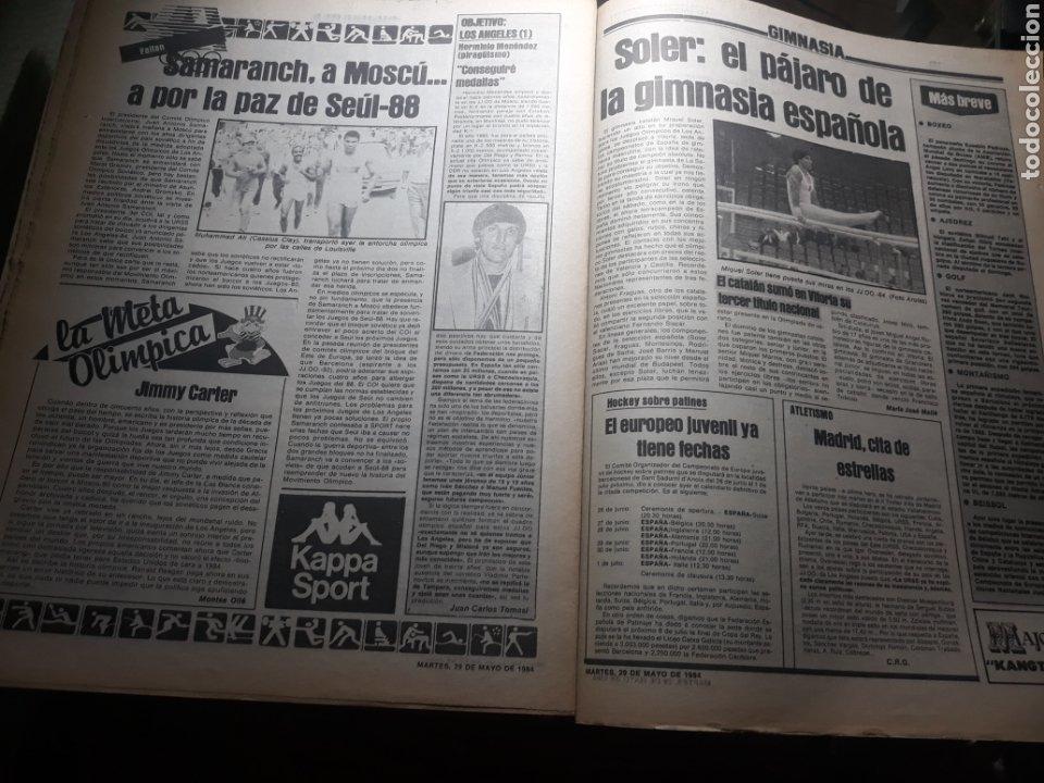 Coleccionismo deportivo: SPORT 29 MAYO 1984 . COSMOS 5 BARCELONA 3 - ULTIMÁTUM MARADONA -SCHUSTER , OFERTA DEL TORINO . - Foto 8 - 238807660