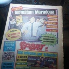 Coleccionismo deportivo: SPORT 29 MAYO 1984 . COSMOS 5 BARCELONA 3 - ULTIMÁTUM MARADONA -SCHUSTER , OFERTA DEL TORINO .. Lote 238807660