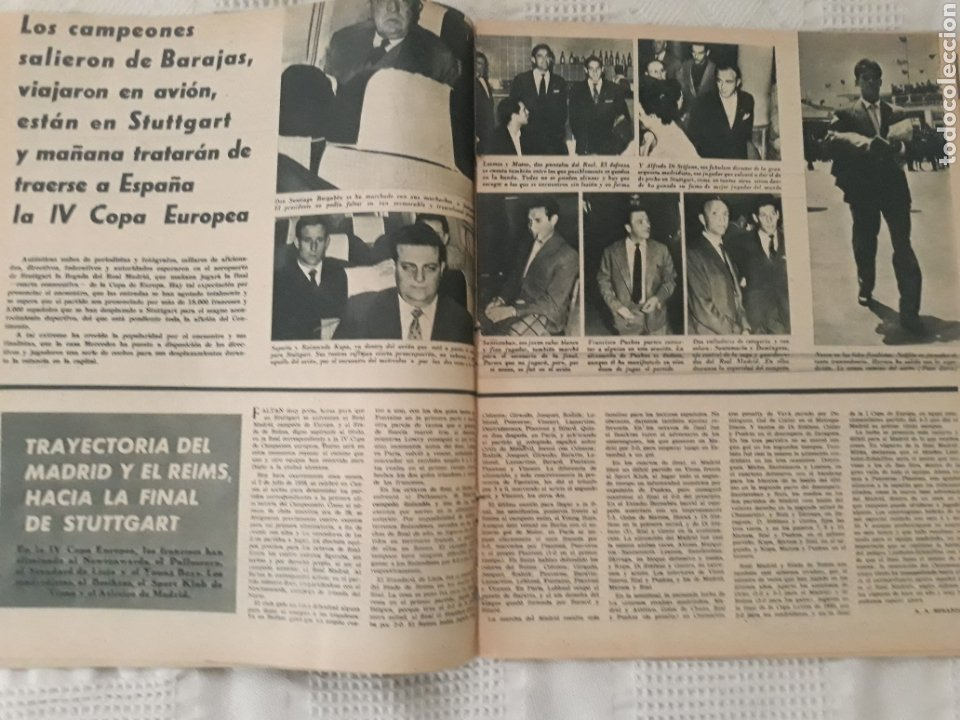 Coleccionismo deportivo: REVISTA MARCA 1959 . EL MADRID A POR LA IV COPA DE EUROPA. SORTEO COPA SEMIFINALES -POBLET CICLISTA - Foto 2 - 238812485