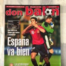 Coleccionismo deportivo: FÚTBOL DON BALÓN 1224 - POSTER EXTREMADURA - SELECCIÓN ESPAÑOLA - PARMA - SEEDORF - COCU - SAVIOLA. Lote 239943845