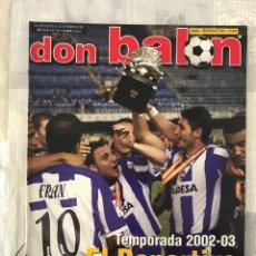 Coleccionismo deportivo: FÚTBOL DON BALÓN 1402 - POSTER MENDIETA - AYALA - SELECCIÓN ESPAÑOLA - RACING - MOURINHO - KAHN. Lote 239948395