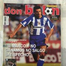 Coleccionismo deportivo: FÚTBOL DON BALÓN 1418 - MAKAAY - POSTER ATLÉTICO - ZARRAGA MADRID - KURANYI - CAPI BETIS - ZAMALEK. Lote 239951225