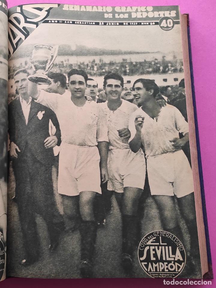 TOMO 33 SEMANARIOS MARCA 1939 Nº 15-47 SEVILLA FC CAMPEON COPA GENERALISIMO - INAUGURACION CHAMARTIN (Coleccionismo Deportivo - Revistas y Periódicos - Marca)