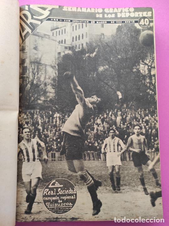 Coleccionismo deportivo: TOMO 33 SEMANARIOS MARCA 1939 Nº 15-47 SEVILLA FC CAMPEON COPA GENERALISIMO - INAUGURACION CHAMARTIN - Foto 2 - 240034485