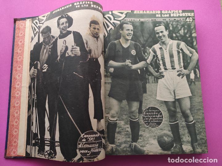 Coleccionismo deportivo: TOMO 33 SEMANARIOS MARCA 1939 Nº 15-47 SEVILLA FC CAMPEON COPA GENERALISIMO - INAUGURACION CHAMARTIN - Foto 3 - 240034485