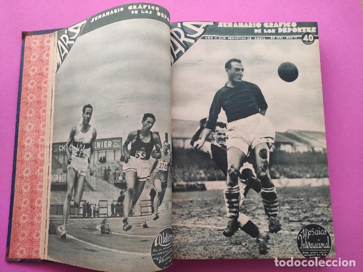 Coleccionismo deportivo: TOMO 33 SEMANARIOS MARCA 1939 Nº 15-47 SEVILLA FC CAMPEON COPA GENERALISIMO - INAUGURACION CHAMARTIN - Foto 4 - 240034485