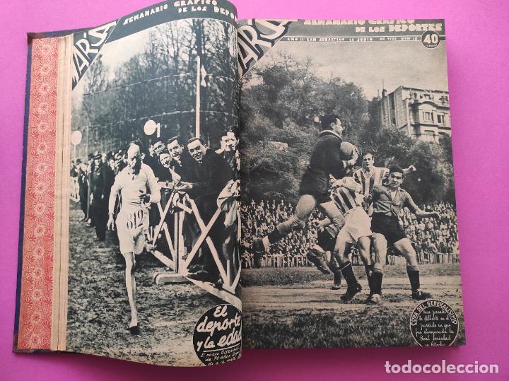 Coleccionismo deportivo: TOMO 33 SEMANARIOS MARCA 1939 Nº 15-47 SEVILLA FC CAMPEON COPA GENERALISIMO - INAUGURACION CHAMARTIN - Foto 5 - 240034485