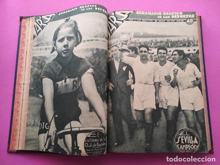 Coleccionismo deportivo: TOMO 33 SEMANARIOS MARCA 1939 Nº 15-47 SEVILLA FC CAMPEON COPA GENERALISIMO - INAUGURACION CHAMARTIN - Foto 7 - 240034485