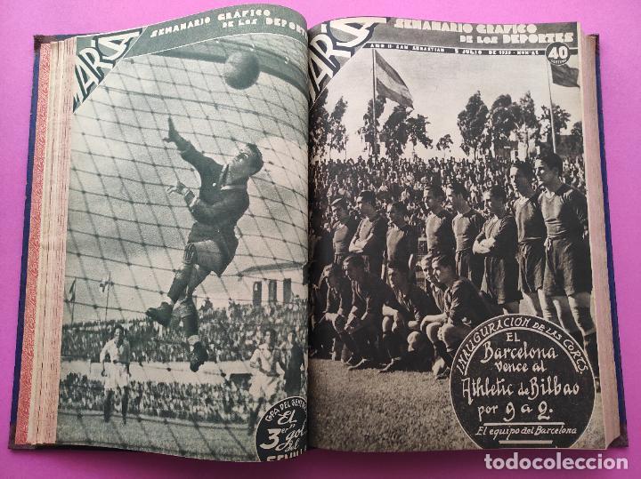Coleccionismo deportivo: TOMO 33 SEMANARIOS MARCA 1939 Nº 15-47 SEVILLA FC CAMPEON COPA GENERALISIMO - INAUGURACION CHAMARTIN - Foto 8 - 240034485