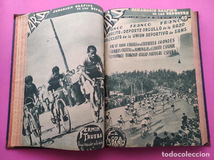 Coleccionismo deportivo: TOMO 33 SEMANARIOS MARCA 1939 Nº 15-47 SEVILLA FC CAMPEON COPA GENERALISIMO - INAUGURACION CHAMARTIN - Foto 11 - 240034485