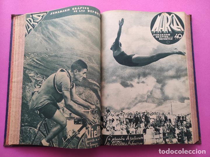 Coleccionismo deportivo: TOMO 33 SEMANARIOS MARCA 1939 Nº 15-47 SEVILLA FC CAMPEON COPA GENERALISIMO - INAUGURACION CHAMARTIN - Foto 12 - 240034485