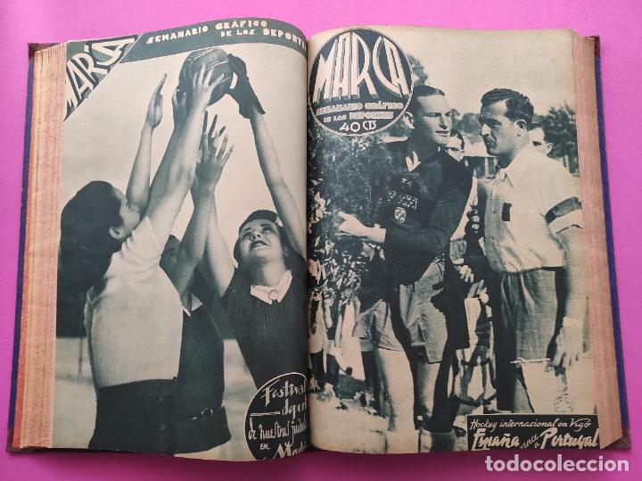 Coleccionismo deportivo: TOMO 33 SEMANARIOS MARCA 1939 Nº 15-47 SEVILLA FC CAMPEON COPA GENERALISIMO - INAUGURACION CHAMARTIN - Foto 13 - 240034485