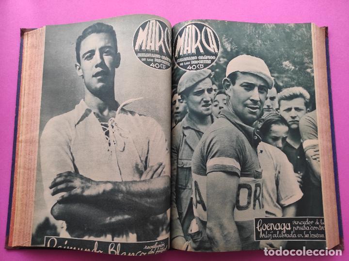 Coleccionismo deportivo: TOMO 33 SEMANARIOS MARCA 1939 Nº 15-47 SEVILLA FC CAMPEON COPA GENERALISIMO - INAUGURACION CHAMARTIN - Foto 15 - 240034485