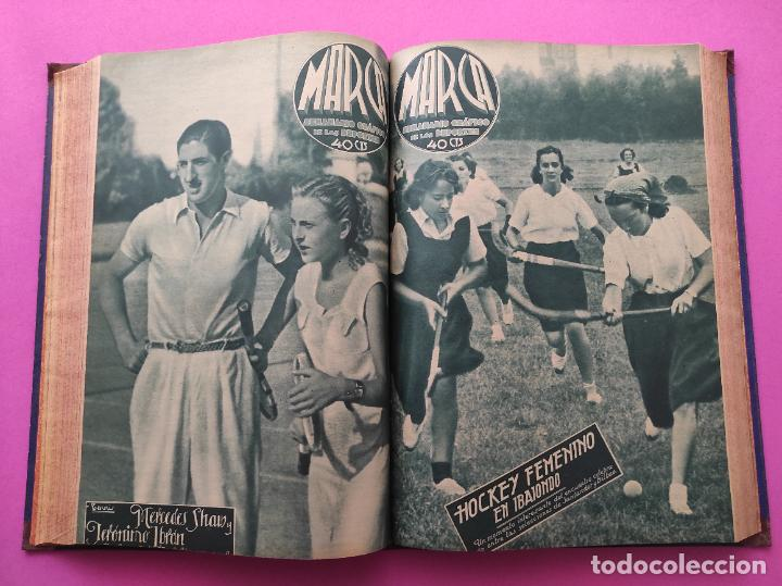 Coleccionismo deportivo: TOMO 33 SEMANARIOS MARCA 1939 Nº 15-47 SEVILLA FC CAMPEON COPA GENERALISIMO - INAUGURACION CHAMARTIN - Foto 18 - 240034485