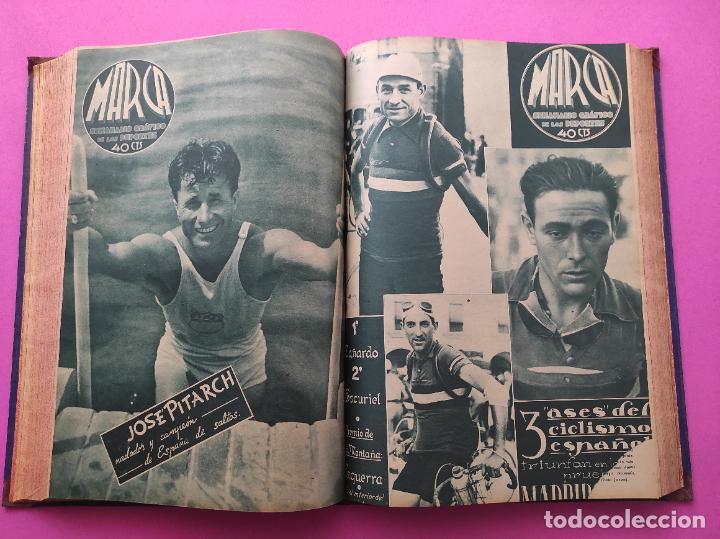 Coleccionismo deportivo: TOMO 33 SEMANARIOS MARCA 1939 Nº 15-47 SEVILLA FC CAMPEON COPA GENERALISIMO - INAUGURACION CHAMARTIN - Foto 19 - 240034485