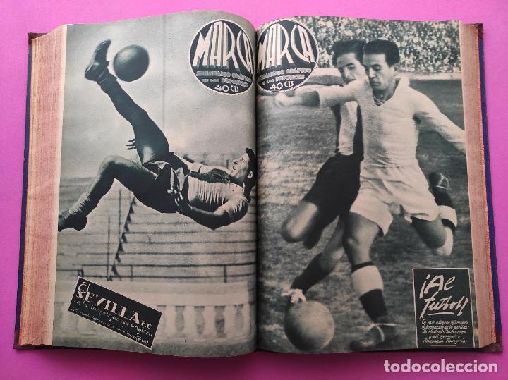 Coleccionismo deportivo: TOMO 33 SEMANARIOS MARCA 1939 Nº 15-47 SEVILLA FC CAMPEON COPA GENERALISIMO - INAUGURACION CHAMARTIN - Foto 22 - 240034485