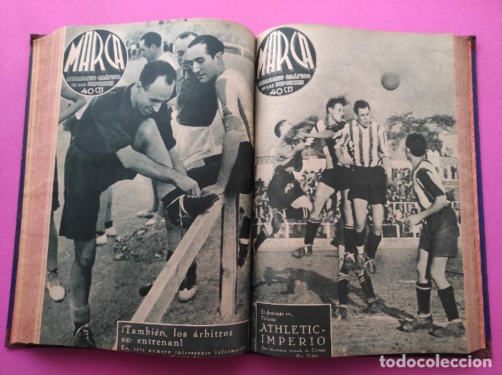 Coleccionismo deportivo: TOMO 33 SEMANARIOS MARCA 1939 Nº 15-47 SEVILLA FC CAMPEON COPA GENERALISIMO - INAUGURACION CHAMARTIN - Foto 23 - 240034485