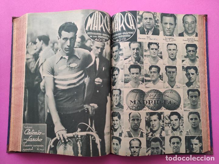 Coleccionismo deportivo: TOMO 33 SEMANARIOS MARCA 1939 Nº 15-47 SEVILLA FC CAMPEON COPA GENERALISIMO - INAUGURACION CHAMARTIN - Foto 24 - 240034485
