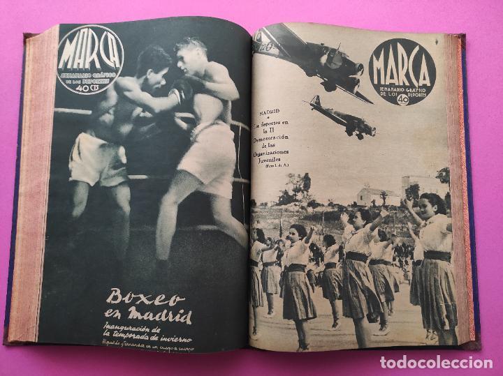 Coleccionismo deportivo: TOMO 33 SEMANARIOS MARCA 1939 Nº 15-47 SEVILLA FC CAMPEON COPA GENERALISIMO - INAUGURACION CHAMARTIN - Foto 25 - 240034485