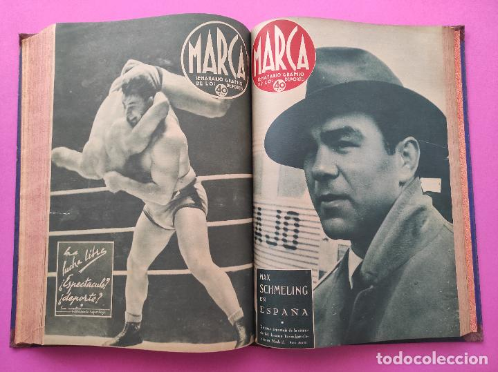 Coleccionismo deportivo: TOMO 33 SEMANARIOS MARCA 1939 Nº 15-47 SEVILLA FC CAMPEON COPA GENERALISIMO - INAUGURACION CHAMARTIN - Foto 26 - 240034485