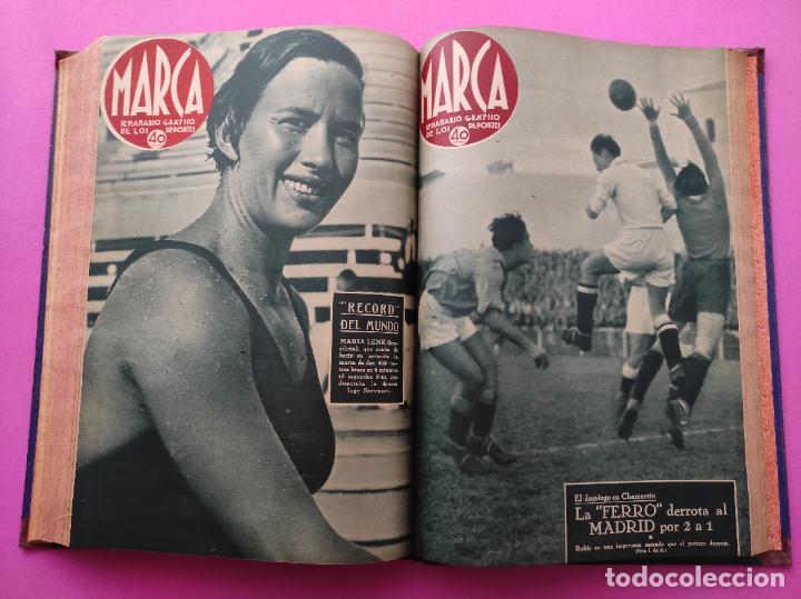 Coleccionismo deportivo: TOMO 33 SEMANARIOS MARCA 1939 Nº 15-47 SEVILLA FC CAMPEON COPA GENERALISIMO - INAUGURACION CHAMARTIN - Foto 27 - 240034485