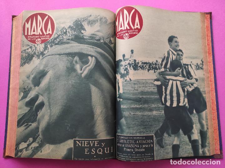 Coleccionismo deportivo: TOMO 33 SEMANARIOS MARCA 1939 Nº 15-47 SEVILLA FC CAMPEON COPA GENERALISIMO - INAUGURACION CHAMARTIN - Foto 29 - 240034485
