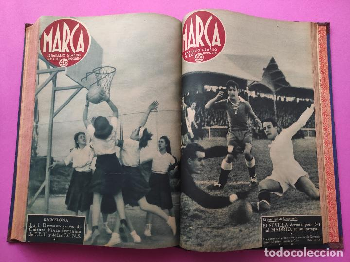 Coleccionismo deportivo: TOMO 33 SEMANARIOS MARCA 1939 Nº 15-47 SEVILLA FC CAMPEON COPA GENERALISIMO - INAUGURACION CHAMARTIN - Foto 30 - 240034485
