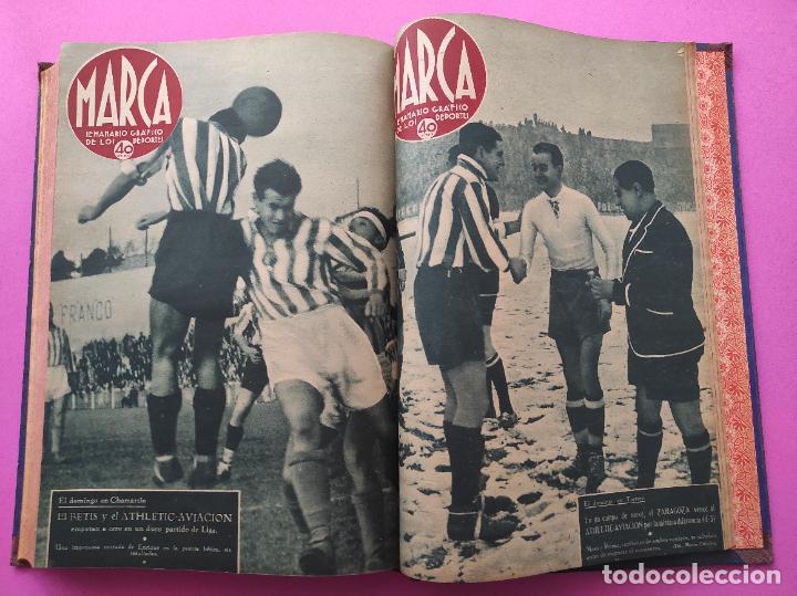 Coleccionismo deportivo: TOMO 33 SEMANARIOS MARCA 1939 Nº 15-47 SEVILLA FC CAMPEON COPA GENERALISIMO - INAUGURACION CHAMARTIN - Foto 32 - 240034485