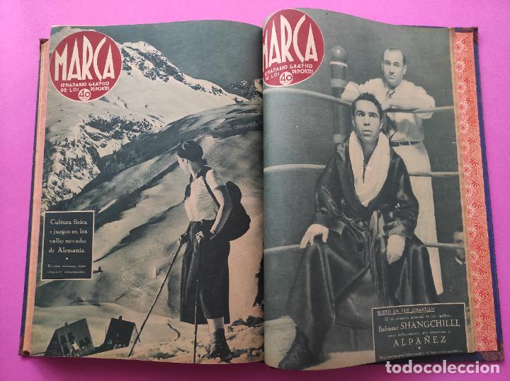 Coleccionismo deportivo: TOMO 33 SEMANARIOS MARCA 1939 Nº 15-47 SEVILLA FC CAMPEON COPA GENERALISIMO - INAUGURACION CHAMARTIN - Foto 33 - 240034485