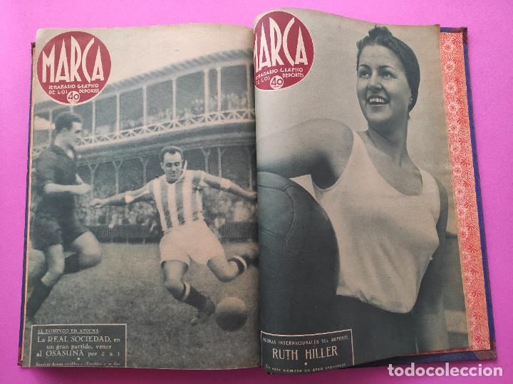 Coleccionismo deportivo: TOMO 33 SEMANARIOS MARCA 1939 Nº 15-47 SEVILLA FC CAMPEON COPA GENERALISIMO - INAUGURACION CHAMARTIN - Foto 34 - 240034485