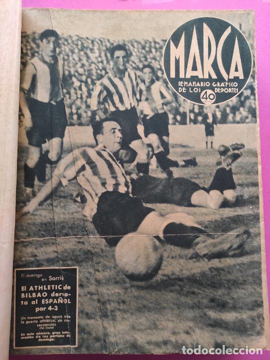Coleccionismo deportivo: TOMO 53 SEMANARIOS MARCA Nº 48-100 ATLETICO AVIACION CAMPEON LIGA 39/40 RCD ESPAÑOL COPA 1939/1940 - Foto 2 - 240036210