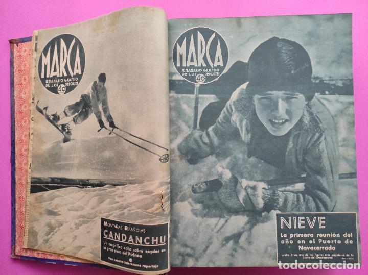 Coleccionismo deportivo: TOMO 53 SEMANARIOS MARCA Nº 48-100 ATLETICO AVIACION CAMPEON LIGA 39/40 RCD ESPAÑOL COPA 1939/1940 - Foto 3 - 240036210