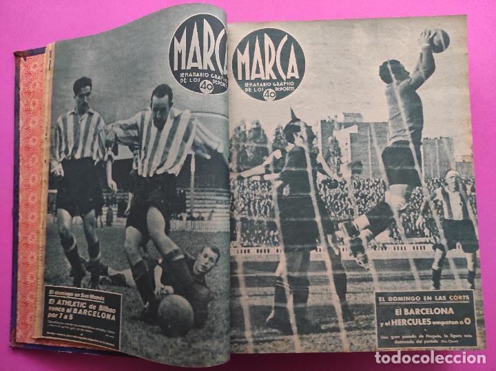 Coleccionismo deportivo: TOMO 53 SEMANARIOS MARCA Nº 48-100 ATLETICO AVIACION CAMPEON LIGA 39/40 RCD ESPAÑOL COPA 1939/1940 - Foto 4 - 240036210