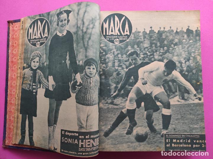 Coleccionismo deportivo: TOMO 53 SEMANARIOS MARCA Nº 48-100 ATLETICO AVIACION CAMPEON LIGA 39/40 RCD ESPAÑOL COPA 1939/1940 - Foto 5 - 240036210
