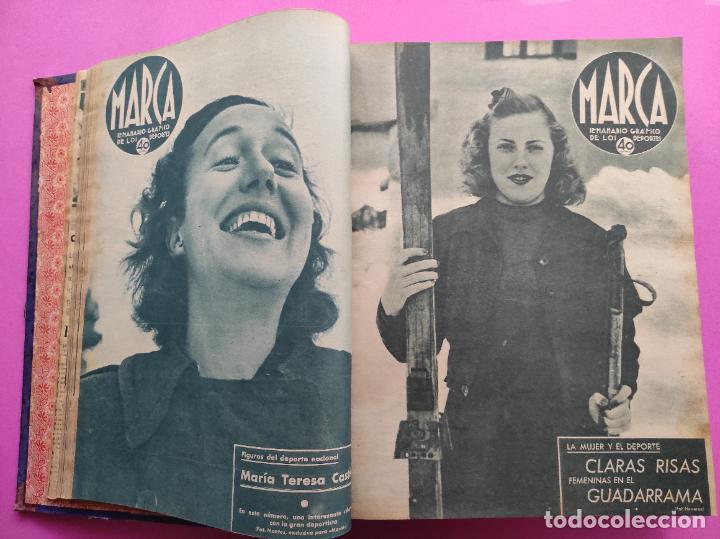 Coleccionismo deportivo: TOMO 53 SEMANARIOS MARCA Nº 48-100 ATLETICO AVIACION CAMPEON LIGA 39/40 RCD ESPAÑOL COPA 1939/1940 - Foto 6 - 240036210