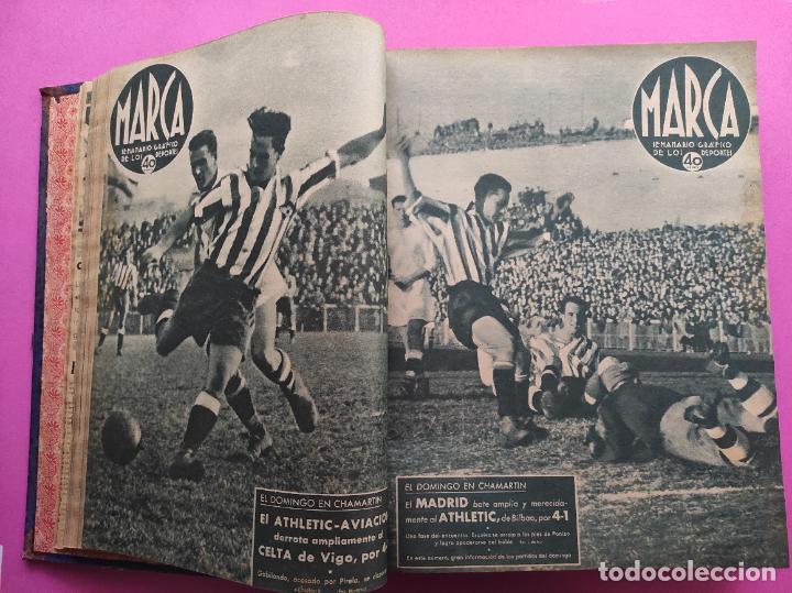 Coleccionismo deportivo: TOMO 53 SEMANARIOS MARCA Nº 48-100 ATLETICO AVIACION CAMPEON LIGA 39/40 RCD ESPAÑOL COPA 1939/1940 - Foto 7 - 240036210