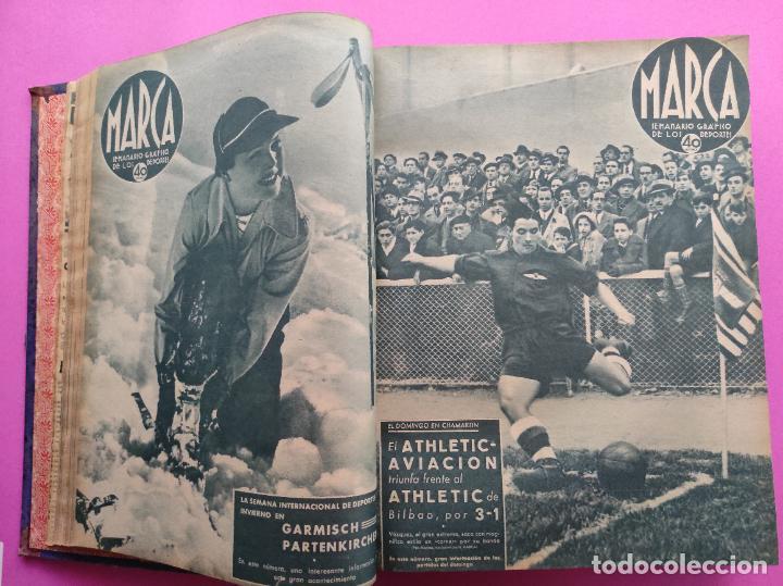 Coleccionismo deportivo: TOMO 53 SEMANARIOS MARCA Nº 48-100 ATLETICO AVIACION CAMPEON LIGA 39/40 RCD ESPAÑOL COPA 1939/1940 - Foto 8 - 240036210