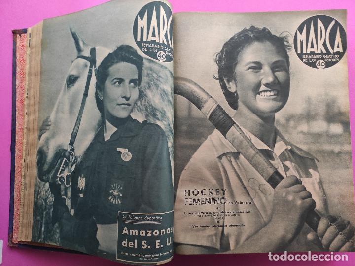 Coleccionismo deportivo: TOMO 53 SEMANARIOS MARCA Nº 48-100 ATLETICO AVIACION CAMPEON LIGA 39/40 RCD ESPAÑOL COPA 1939/1940 - Foto 9 - 240036210