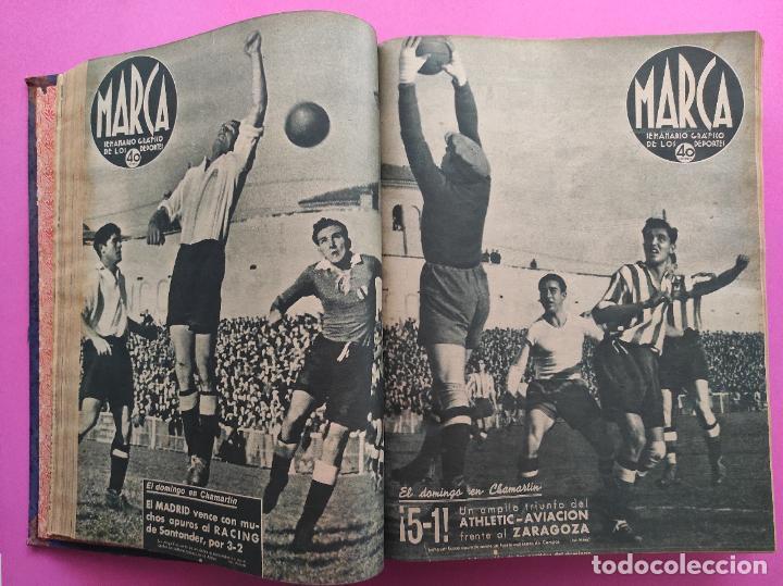 Coleccionismo deportivo: TOMO 53 SEMANARIOS MARCA Nº 48-100 ATLETICO AVIACION CAMPEON LIGA 39/40 RCD ESPAÑOL COPA 1939/1940 - Foto 10 - 240036210