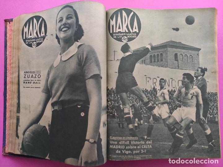 Coleccionismo deportivo: TOMO 53 SEMANARIOS MARCA Nº 48-100 ATLETICO AVIACION CAMPEON LIGA 39/40 RCD ESPAÑOL COPA 1939/1940 - Foto 11 - 240036210