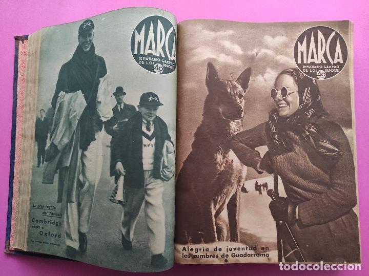 Coleccionismo deportivo: TOMO 53 SEMANARIOS MARCA Nº 48-100 ATLETICO AVIACION CAMPEON LIGA 39/40 RCD ESPAÑOL COPA 1939/1940 - Foto 12 - 240036210