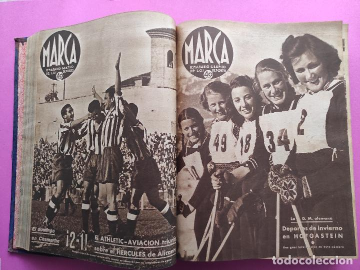 Coleccionismo deportivo: TOMO 53 SEMANARIOS MARCA Nº 48-100 ATLETICO AVIACION CAMPEON LIGA 39/40 RCD ESPAÑOL COPA 1939/1940 - Foto 13 - 240036210