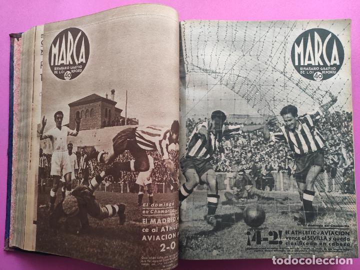 Coleccionismo deportivo: TOMO 53 SEMANARIOS MARCA Nº 48-100 ATLETICO AVIACION CAMPEON LIGA 39/40 RCD ESPAÑOL COPA 1939/1940 - Foto 14 - 240036210