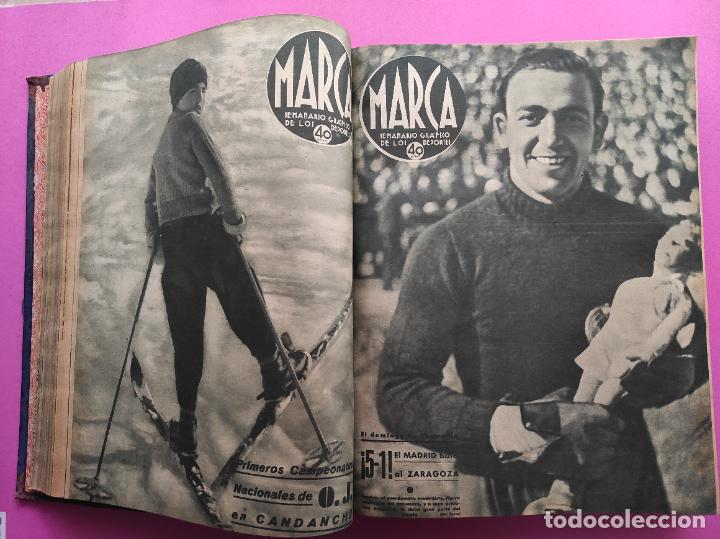 Coleccionismo deportivo: TOMO 53 SEMANARIOS MARCA Nº 48-100 ATLETICO AVIACION CAMPEON LIGA 39/40 RCD ESPAÑOL COPA 1939/1940 - Foto 15 - 240036210