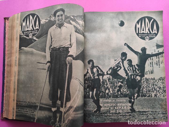 Coleccionismo deportivo: TOMO 53 SEMANARIOS MARCA Nº 48-100 ATLETICO AVIACION CAMPEON LIGA 39/40 RCD ESPAÑOL COPA 1939/1940 - Foto 16 - 240036210