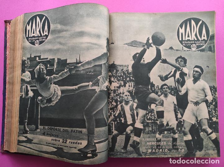 Coleccionismo deportivo: TOMO 53 SEMANARIOS MARCA Nº 48-100 ATLETICO AVIACION CAMPEON LIGA 39/40 RCD ESPAÑOL COPA 1939/1940 - Foto 17 - 240036210