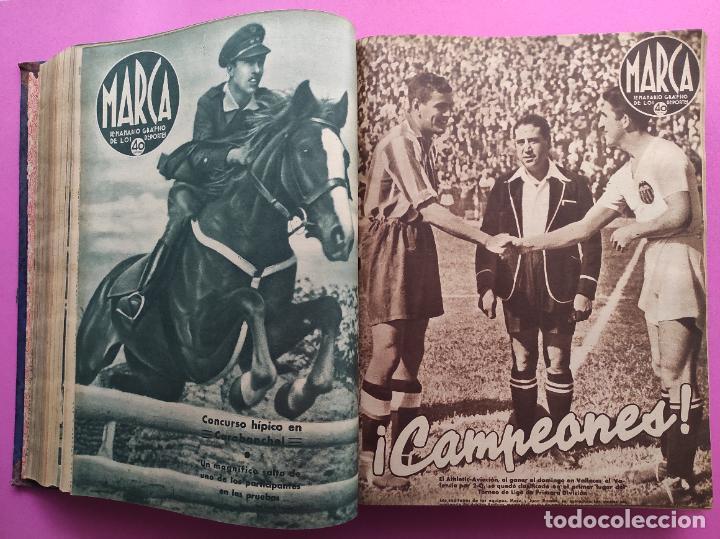Coleccionismo deportivo: TOMO 53 SEMANARIOS MARCA Nº 48-100 ATLETICO AVIACION CAMPEON LIGA 39/40 RCD ESPAÑOL COPA 1939/1940 - Foto 18 - 240036210
