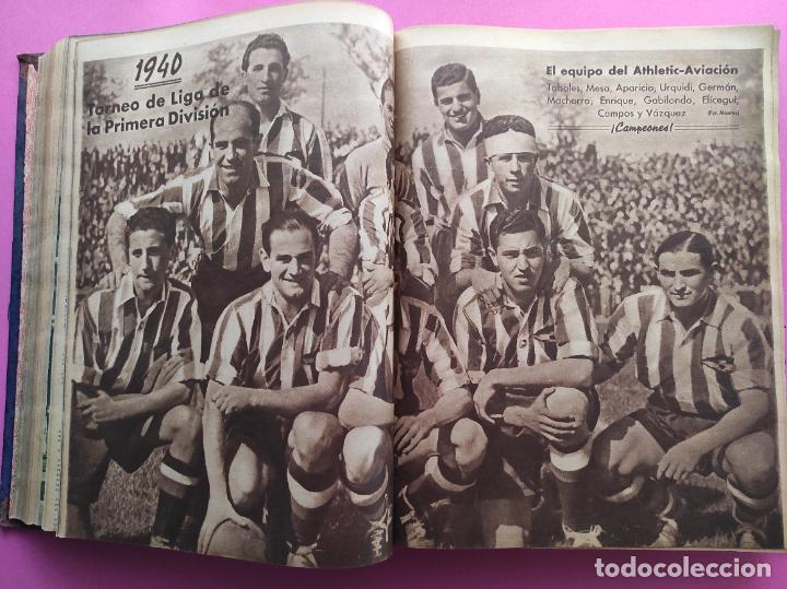 Coleccionismo deportivo: TOMO 53 SEMANARIOS MARCA Nº 48-100 ATLETICO AVIACION CAMPEON LIGA 39/40 RCD ESPAÑOL COPA 1939/1940 - Foto 19 - 240036210
