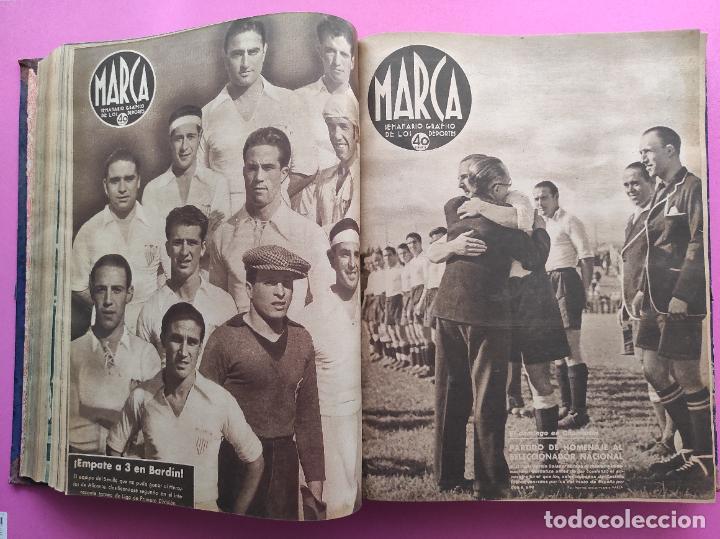 Coleccionismo deportivo: TOMO 53 SEMANARIOS MARCA Nº 48-100 ATLETICO AVIACION CAMPEON LIGA 39/40 RCD ESPAÑOL COPA 1939/1940 - Foto 20 - 240036210